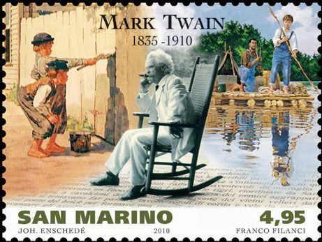 Mark Twain znaczek